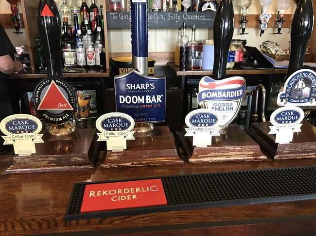 cask marque real ales at the Hare and Hounds