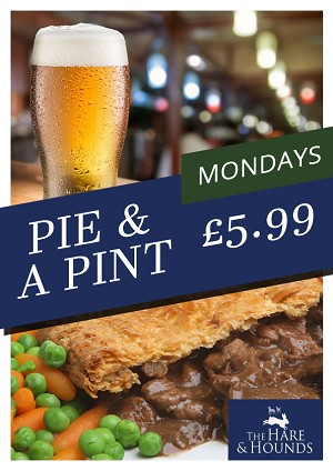 Pie and a pint Mondays