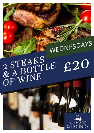 Steak and a bottle of wine wednesdays